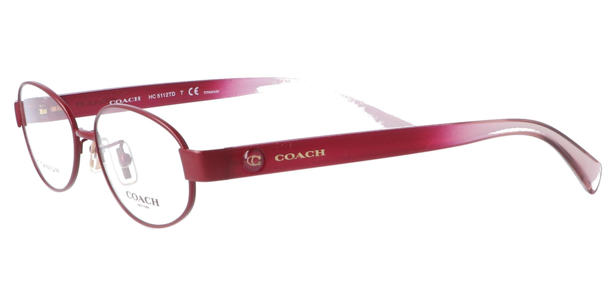 COACH HC5112TD_52_サテンバーガンディー/トランスペアレント ライトピンク