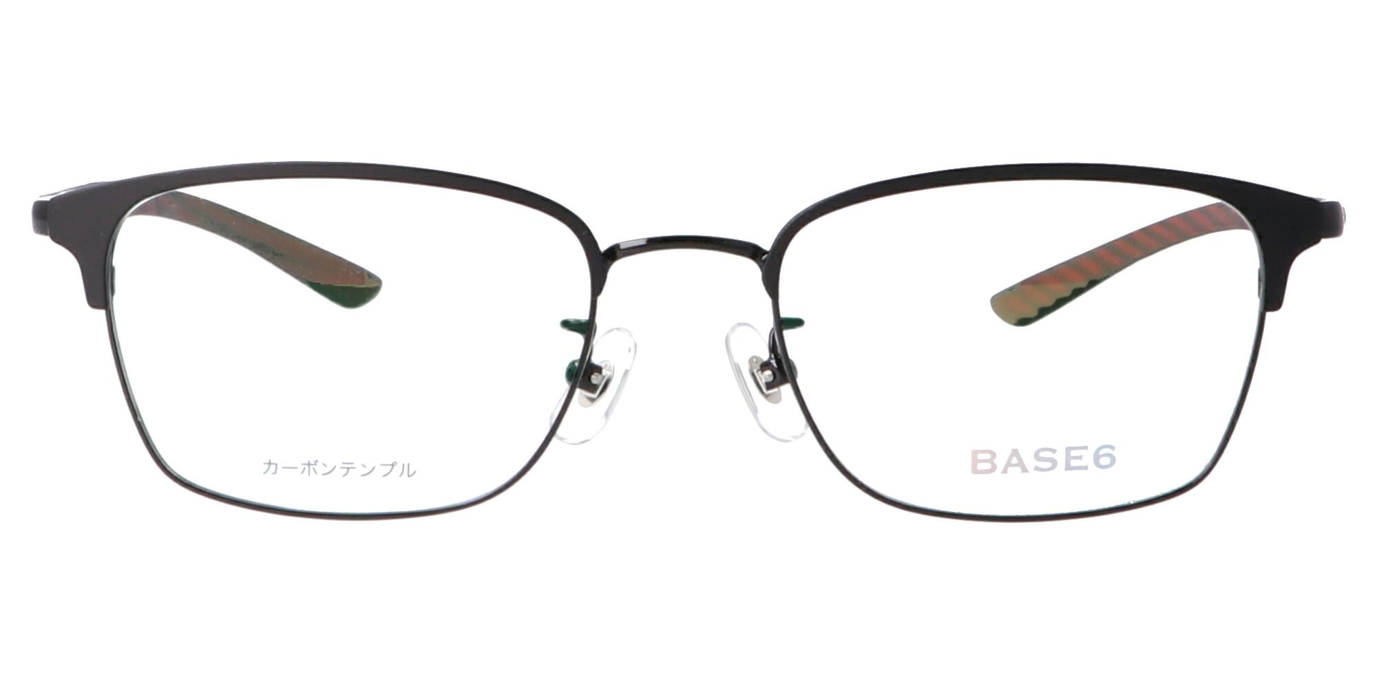 BASE6 BS2497_52_ブラック/ブラック&レッド