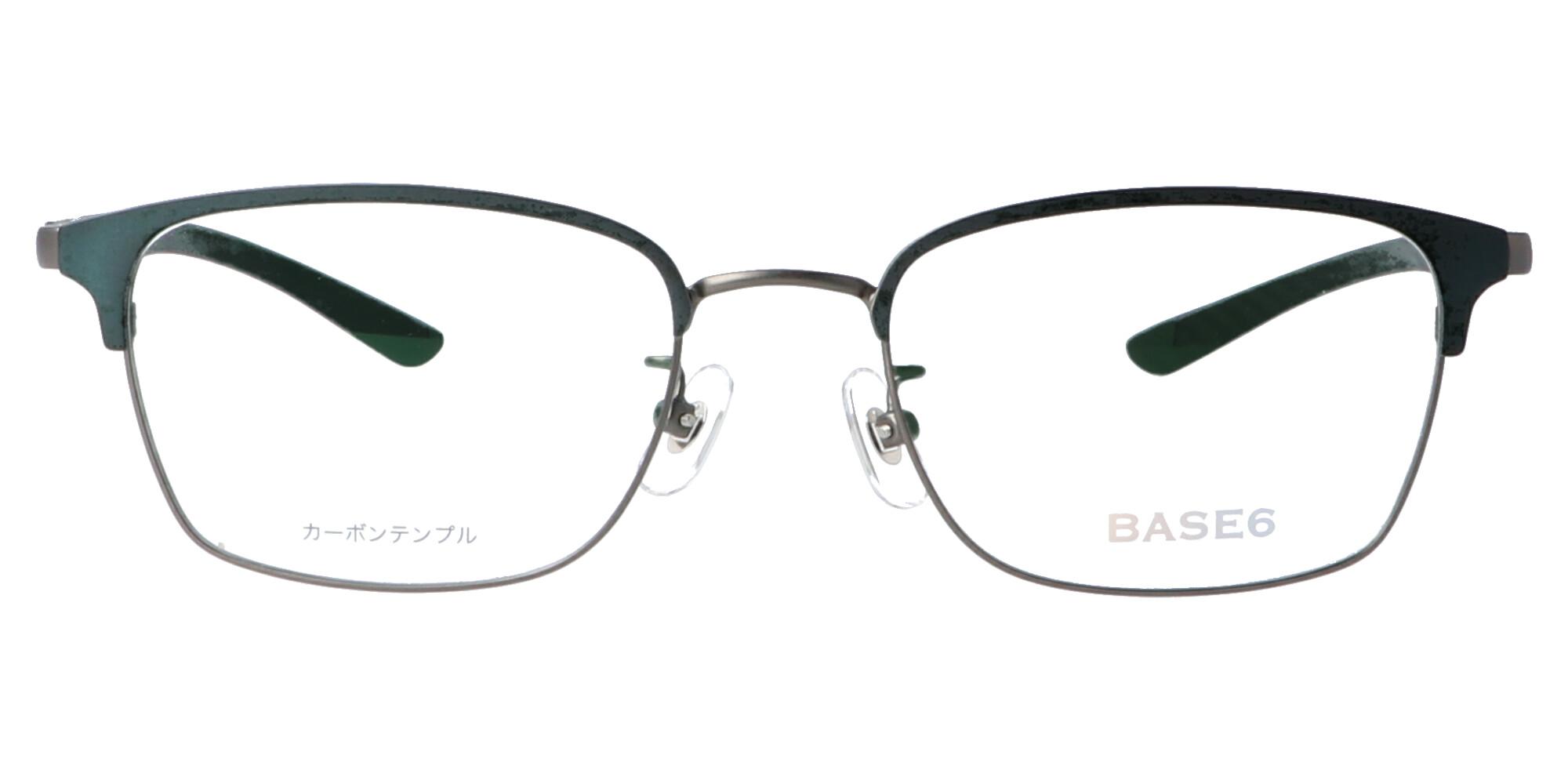 BASE6 BS2497_52_ガンメタリック/グリーン&グリーン
