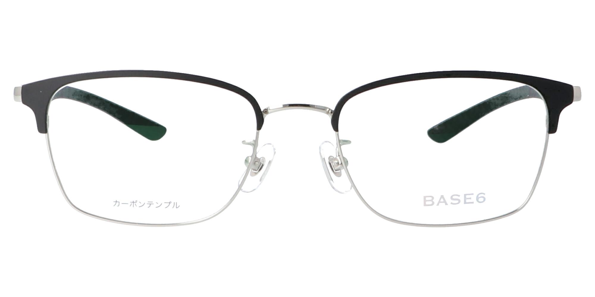 BASE6 BS2497_52_シルバー/ブラック&ブラック