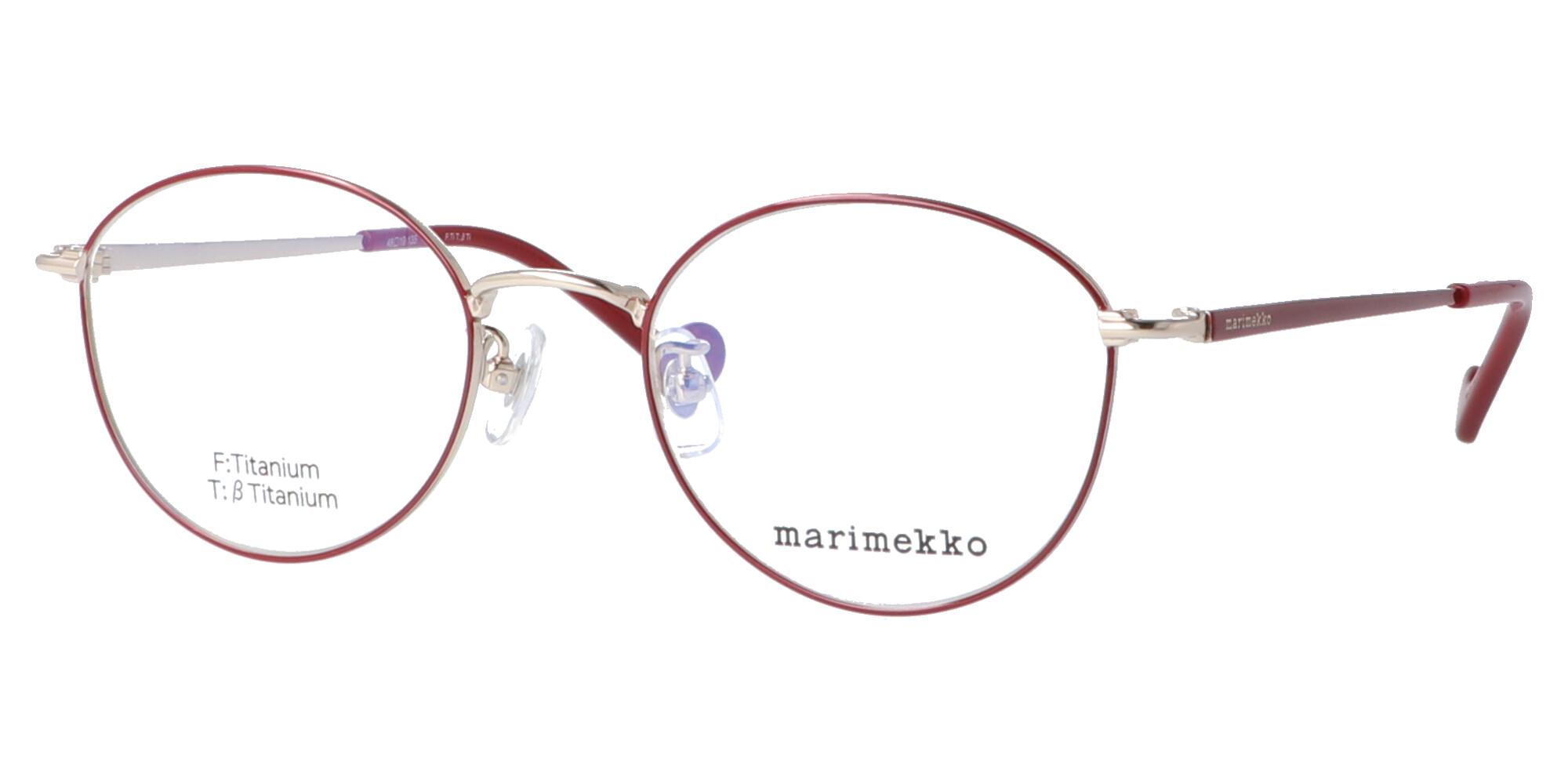 マリメッコ 32-0059_48_ライトゴールド・ダークチェリー