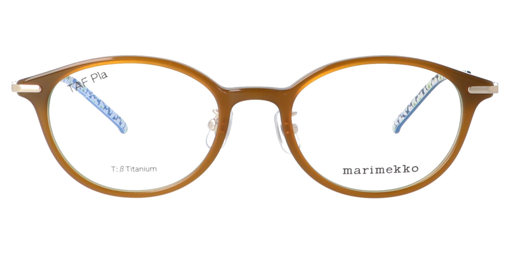マリメッコ 32-0062_49_ブラウン・ブルー