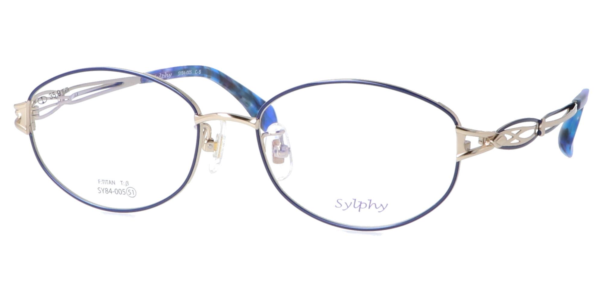 シルフィー SY84-005_51_ホワイトゴールド/ネイビーブルー